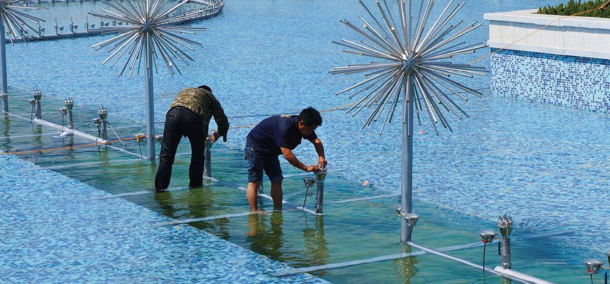 喷泉设备安装